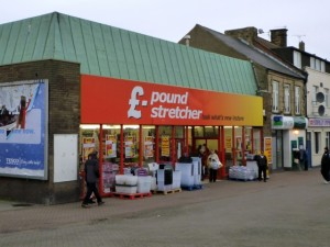 Existing Poundstretcher, Stanley (2 Dec 2011). Photograph by Graham Soult