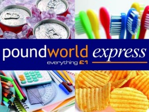Poundworld Express logo and imagery