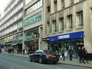 More hi-fi stores in Tottenham Court Road (10 Feb 2012). Photograph by Graham Soult