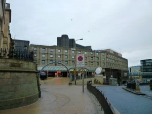 The nearby St James Shopping Centre, Edinburgh (29 Jan 2012). Photograph by Graham Soult