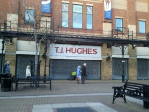 Ex-TJ Hughes in Middlesbrough, prior to reoccupation (5 Jan 2012). Photograph by Graham Soult
