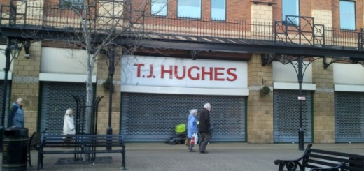 Ex-TJ Hughes in Middlesbrough, prior to reoccupation by Metro Outlet (5 Jan 2012). Photograph by Graham Soult