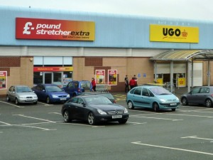 Poundstretcher and UGO, Nuneaton (7 Feb 2012). Photograph by Graham Soult