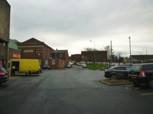 Existing Poundstretcher (left) and UGO (right), Stanley (2 Dec 2011). Photograph by Graham Soult