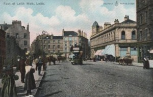 Early 1900s postcard of the Foot of the Walk, pre-Woolworths
