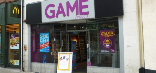 Game in Sunderland's High Street West - now closed (13 Mar 2012). Photograph by Graham Soult