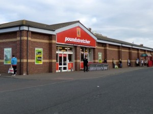Poundstretcher, Ashington (21 March 2012). Photograph by Graham Soult