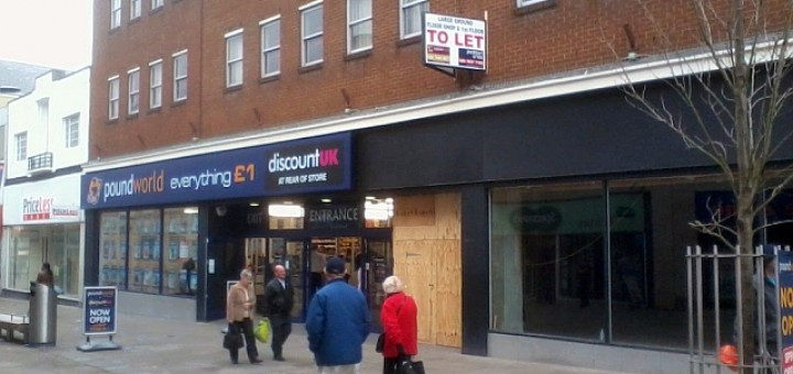 Poundworld and Discount UK store, Swindon (2 Mar 2012). Photograph by Lee Sartin
