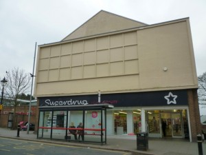 Former Coliseum Picture House (now Superdrug), Houghton-le-Spring (14 Mar 2012). Photograph by Graham Soult