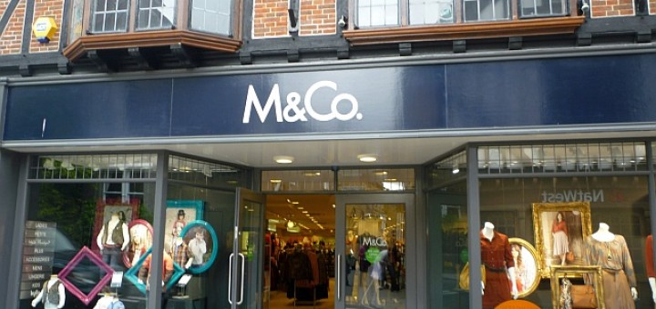 Former Woolworths (now M&Co), Sherborne (5 Sep 2011). Photograph by Graham Soult