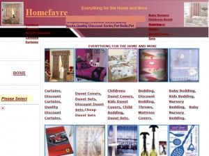 Screenshot of HomeFayre website (15 Apr 2012)
