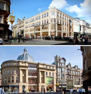 Artist's impressions of the redeveloped Monument Mall. Source: Hammerson