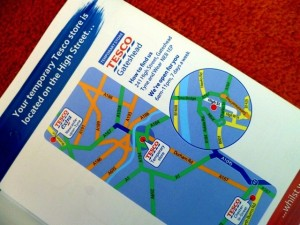 Tesco Gateshead mailout (13 Apr 2012). Photograph by Graham Soult