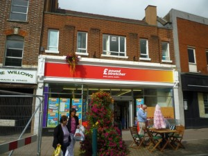 Poundstretcher (formerly Woolworths and Alworths), Tiverton (9 Sep 2011). Photograph by Graham Soult