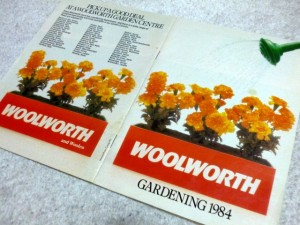 Woolworths gardening catalogue 1984. Photograph by Graham Soult
