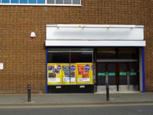Former Woolworths side entrance, Wallsend (19 Mar 2012). Photograph by Graham Soult