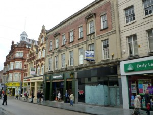 Previous former Woolworths (now McDonalds), Exeter (6 Sep 2011). Photograph by Graham Soult