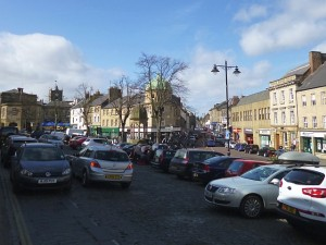 ...and the same view of Bondgate Within today (31 Mar 2012). Photograph by Graham Soult