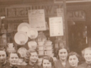 Detail of postcard of unknown Woolworths shopfront, 2 April 1938