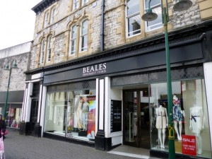 Beales, Kendal (9 May 2012). Photograph by Graham Soult