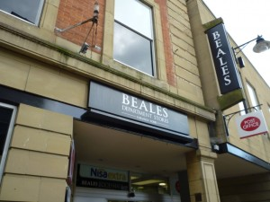 Beales, Hexham (18 Sep 2011). Photograph by Graham Soult