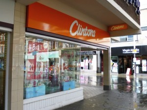 Clinton Cards, St Helens (10 May 2012). Photograph by Graham Soult