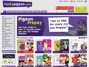 Screenshot of Funky Pigeon website (15 May 2012)