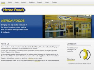 New Heron Foods website (18 May 2012)