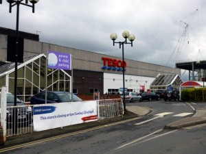 Tesco Gateshead a couple of days before closure (20 Apr 2012). Photograph by Graham Soult