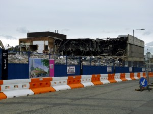 Demolition of Tesco Gateshead (13 May 2012). Photograph by Graham Soult
