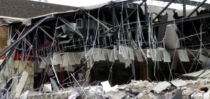 Demolition of Tesco Gateshead (13 May 2012). Photograph by Graham Soult