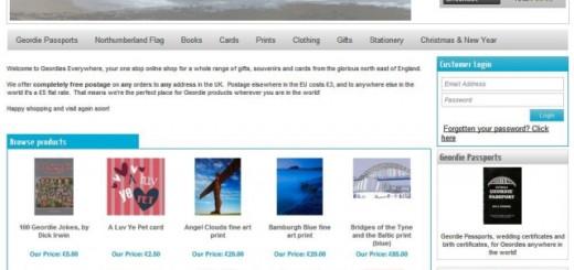 Geordies Everywhere store (4 Jun 2012)