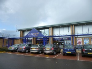 Dual-fascia Poundworld and Discount UK in Cramlington (21 Apr 2012). Photograph by Graham Soult