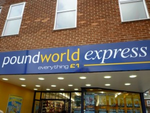 Poundworld Express, Redcar (7 Mar 2012). Photograph by Graham Soult