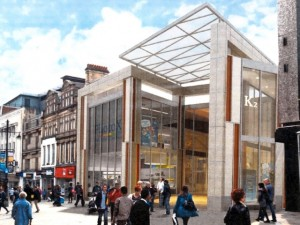 Leslie Jones Architecture's render of Eldon Square's Northumberland Street entrance