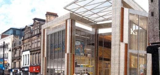 Leslie Jones Architecture's render of Eldon Square's Northumberland Street entrance