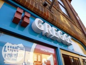 Greggs shop in Crook (27 Mar 2012). Photograph by Graham Soult