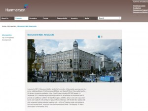 Hammerson website - post deletion (27 Jul 2012)