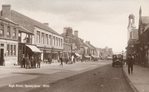 1920s postcard of High Street, Spennymoor