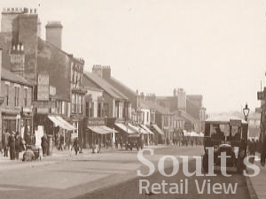 Detail of 1920s postcard of High Street, Spennymoor
