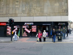 Existing Jessops, Newgate Street, Newcastle (23 Jun 2012). Photograph by Graham Soult