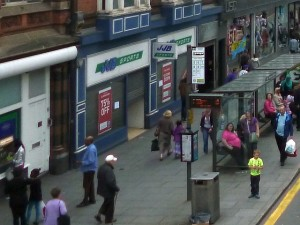 JJB closing down in Nottingham last week (16 Aug 2012). Photograph by Graham Soult