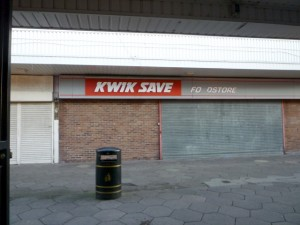 Former Kwik Save, Spennymoor (5 Jan 2012). Photograph by Graham Soult