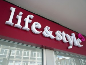 Life & Style fascia, Reading (19 Aug 2011). Photograph by Graham Soult