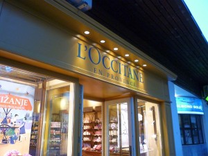 L'Occitane shop in Bled, Slovenia (13 Jul 2011). Photograph by Graham Soult