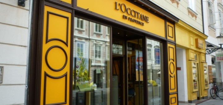 L'Occitane shop in Mestni trg, Ljubljana, Slovenia (26 Jul 2011). Photograph by Graham Soult
