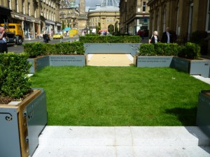 Newcastle NE1's Grey Street Garden from summer 2011 (14 Aug 2011). Photograph by Graham Soult
