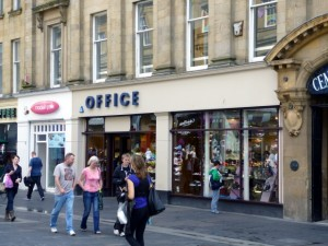 Existing Office store, Grainger Street, Newcastle (22 Aug 2012). Photograph by Graham Soult