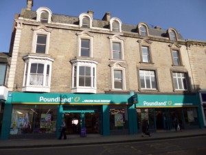 Poundland, Bishop Auckland (including ex-Ethel Austin site) (27 Mar 2012). Photograph by Graham Soult