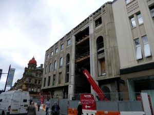 New TK Maxx site, Northumberland Street, Newcastle (8 Aug 2012). Photograph by Graham Soult